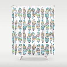Amazon Feathers Shower Curtain
