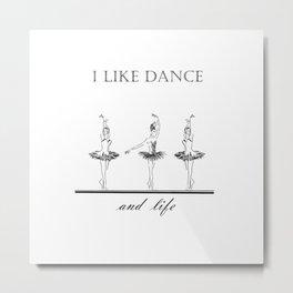 three ballerinas dancing  ( https://society6.com/vickonskey/collection ) Metal Print
