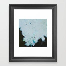 Skyline: Acrylic semi-abstract landscape, trees against the sky. Framed Art Print