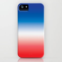 Red White Blue Ombre Gradient Tie Dye iPhone Case