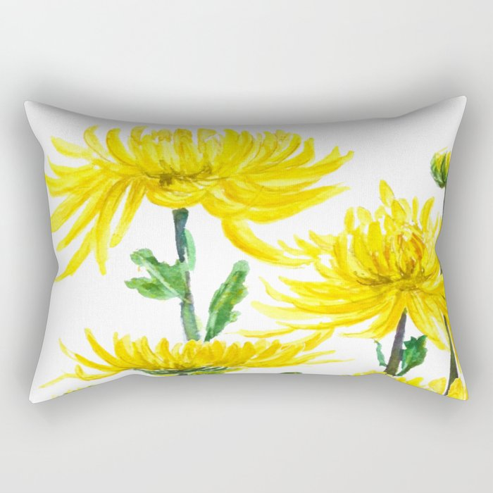 Yellow Chrysanthemums Rectangular Pillow
