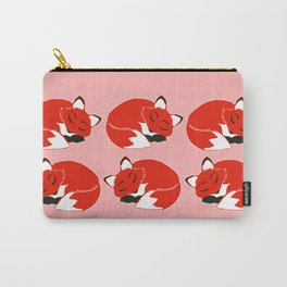 Sleepy Foxes Pattern Carry-All Pouch
