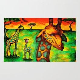 Radioactive Giraffes Rug