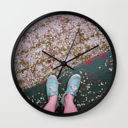 Blue Shoes Wall Clock
