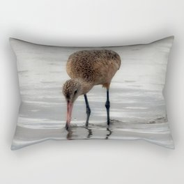 Marbled Godwit Reflections Rectangular Pillow