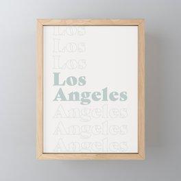 Los Angeles Type - Blue Framed Mini Art Print