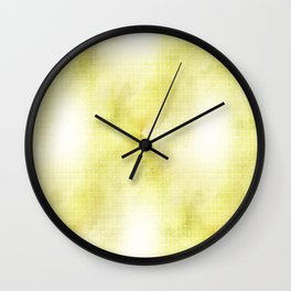 Green and White Abstract Wall Clock