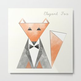 Elegant Fox Metal Print