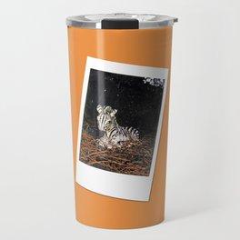 Retro Photo: Zebra Statue Travel Mug