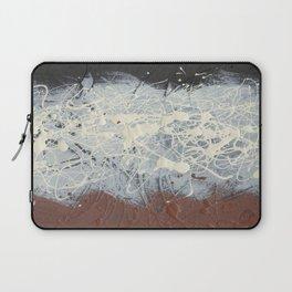 Cool Pollock Rothko Inspired Black White Red Abstract - Corbin Henry Modern Art Laptop Sleeve