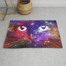 Color Burst Galaxy Cat Rug