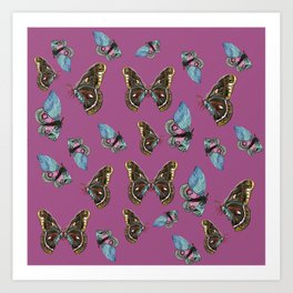 Butterflies Pattern Art Print