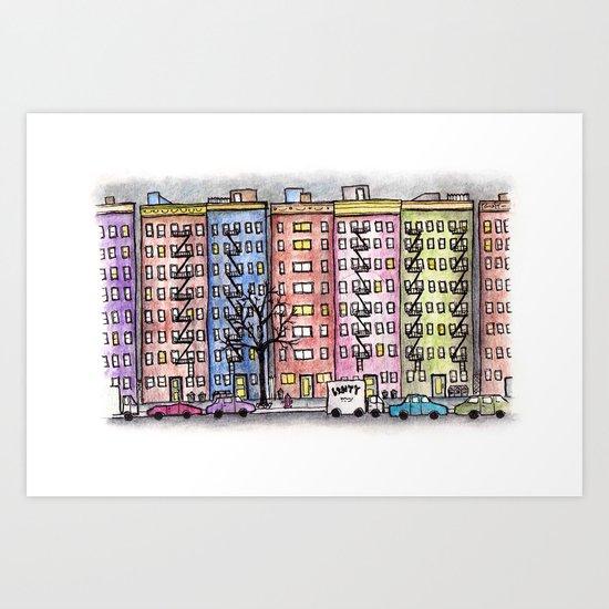 Lower East Side NYC Art Print