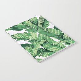 Tropical banana leaves V Notebook