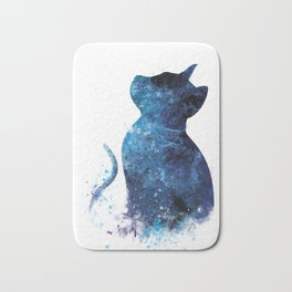Blue Cat Bath Mat