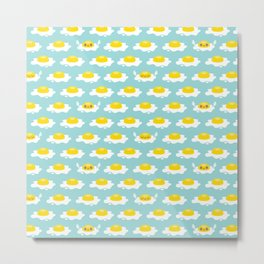 Sunny Side Up! / Print / Blue Metal Print