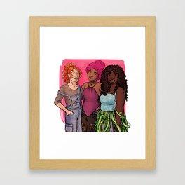 Danae, Evelyn & Rose Framed Art Print