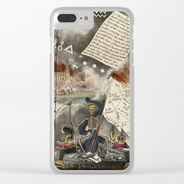 Raphael's Prophetic Almanack: an angel blowing the last trumpet, war, and shipwreck (1831) Clear iPhone Case