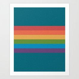 Indigo Rainbow Art Print