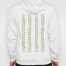 Matcha Greens - nature spring leaves green pattern Hoody