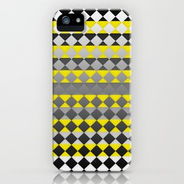 Lines and Squares iPhone Case
