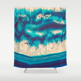 Blue Agate Water Element Shower Curtain