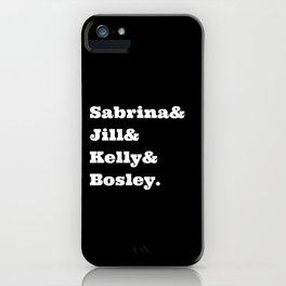 Charlie's Angels Name List iPhone Case