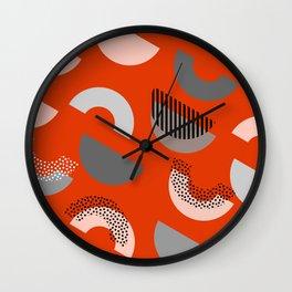 Half-circles Wall Clock