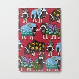 Alaskan musk ox red Metal Print
