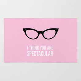 I Think You Are Spectacular! Girl  Rug