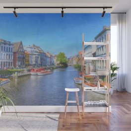 The Canals Of Ghent, Belgium Wall Mural