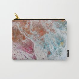 WHITE WASH | Fluid abstract art by Natalie Burnett Art Carry-All Pouch
