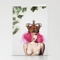 bitch Stationery Cards featuring Queen Bitch by Jenny Liz Rome