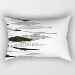 Spikes and Pines (pen on paper) Rectangular Pillow