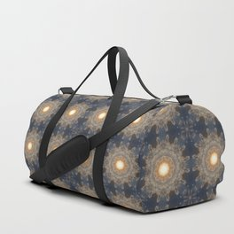 Blue yellow mandala Duffle Bag