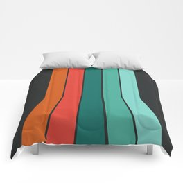 Flipside - 70's style trendy throwback retro gifts 1970s abstract art Comforters