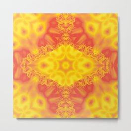 Fiery crystal depths kaleidoscope Metal Print