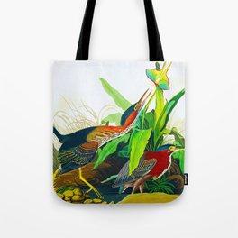 Green Heron Mill Grove John James Audubon Vintage Scientific Illustration Tote Bag