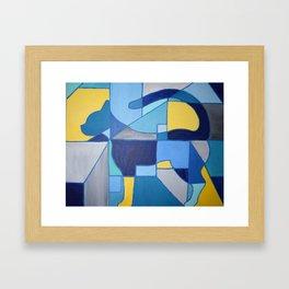 Geometric Cat Framed Art Print