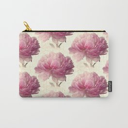 Antiqued Peony Carry-All Pouch