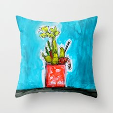 Sunday Funday Bloody Mary Mania Throw Pillow