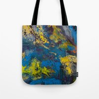 cosmic Tote Bags featuring Cosmic by yellowbunnies