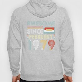 Vintage Awesome Since February 1979 40th Birthday Hoody