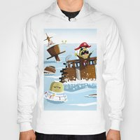 pirates Hoodies featuring Pirates by modernagestudio