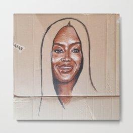 Naomi Campbell Metal Print