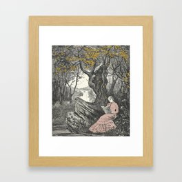 Sweet Bookish Solitude Framed Art Print