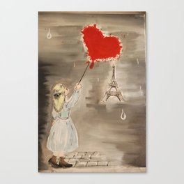 Girl with a Heart Canvas Print