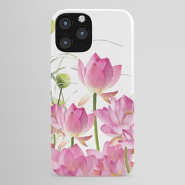 Field of Lotos Flowers iPhone Case