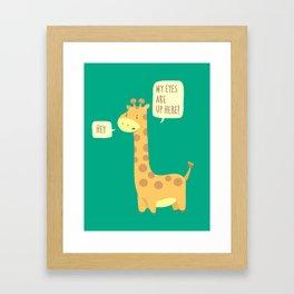 Giraffe problems! Framed Art Print