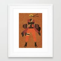 naruto Framed Art Prints featuring Sage Naruto by JHTY